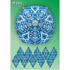 IP-203 Новогодний шар Льдинка. Набор для выкладки пластиковыми алмазиками ТМ Вдохновение