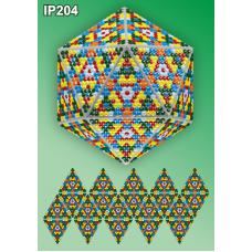 IP-204 Новогодний шар Мозаика. Набор для выкладки пластиковыми алмазиками ТМ Вдохновение