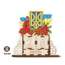 KLD-004 Герб Ураины. Заготовка для вышивки по дереву Вечный календарь ТМ WoodStitch