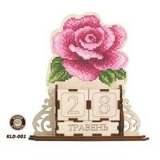 KLD-001_UA Роза. Заготовка для вышивки по дереву Вечный календарь ТМ WoodStitch