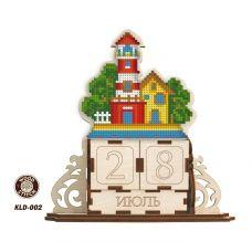 KLD-002 Маяк. Заготовка для вышивки по дереву Вечный календарь. ТМ WoodStitch