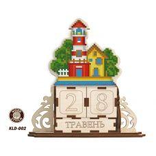KLD-002_UA Маяк. Заготовка для вышивки по дереву Вечный календарь. ТМ WoodStitch