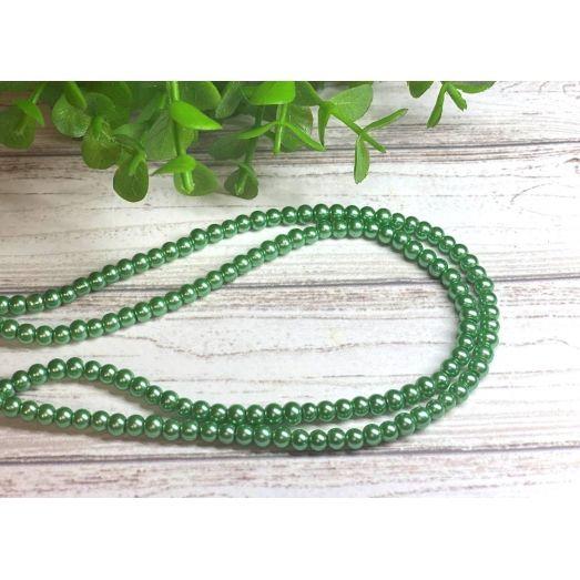 408ГСЛ Бусина керамическая зеленая, 4 мм