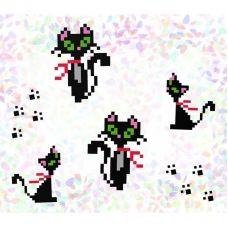 К-104 Кошки.Водорастворимый флизелин для вышивки Confetti