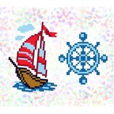 К-108 Морское приключение. Водорастворимый флизелин для вышивки Confetti