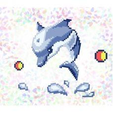 К-110 Дельфин. Водорастворимый флизелин для вышивки Confetti