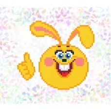 К-112 Веселый заяц. Водорастворимый флизелин для вышивки Confetti