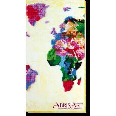 АВ-464 Карта мира. Набор для вышивки бисером. Абрис Арт