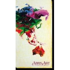 АВ-465 Карта мира. Набор для вышивки бисером. Абрис Арт