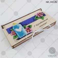 КДГ_002_RU Коробочка-конверт С Крестинами сыночка! под вышивку ТМ Virena