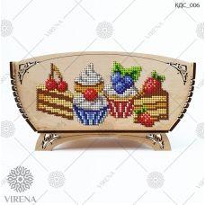 КДС_006 Корзинка для сладостей под вышивку бисером ТМ Virena