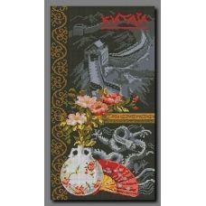 А-005 Китай. Схема для вышивки бисером Орхидея