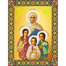S-165 Святые Вера, Надежда, Любовь и Софья. Схема для вышивки бисером ТМ Картины бисером