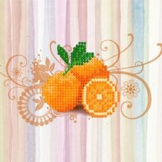M-015 Апельсины. Схема для вышивки магнита на подрамнике. СвитАрт