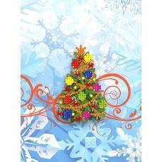 M-018 Новогодняя елка. Схема для вышивки магнита на подрамнике. СвитАрт