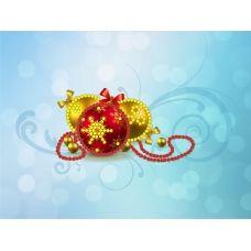 M-022 Новогодние игрушки. Схема для вышивки магнита на подрамнике. СвитАрт