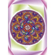 А3-К-819 Мандала Удача. Схема для вышивки бисером ТМ Acorns