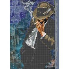 А3-К-573 Мужчина в шляпе. Схема для вышивки бисером ТМ Acorns