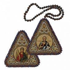 ВХ1105 Св. Апостол Андрей Первозванный и Ангел Хранитель. Набор для вышивания двухсторонней иконы Нова Слобода