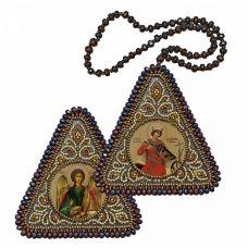 ВХ1214 Св. Вмц. Екатерина и Ангел Хранитель. Набор для вышивания двухсторонней иконы Нова Слобода