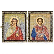 СА7303 Св.Вмч.Целитель Пантелеймон и Ангел Хранитель. Набор для вышивки бисером Нова Слобода