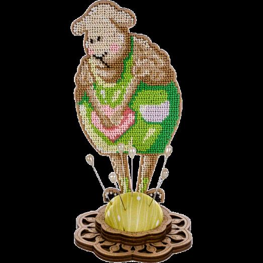 FLK-281 Игольница Набор для вышивания бисером по дереву Волшебная Страна