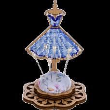 FLK-285 Игольница Набор для вышивания бисером по дереву Волшебная Страна