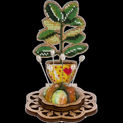 FLK-286 Игольница Набор для вышивания бисером по дереву Волшебная Страна