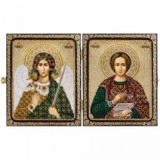 СЕ7203 Св.Вмч.Целитель Пантелеймон и Ангел Хранитель. Набор для вышивки бисером Нова Слобода