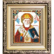 БЮ-008 Икона святителя Николая Чудотворца. Набор для вышивки ювелирным бисером. ТМ Чаривна Мить