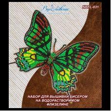 NBFL-031 Набор бабочка Тейнопальпус императорский на водорастворимом флизелине ТМ Вдохновение