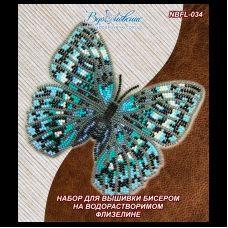 NBFL-034 Набор бабочка Стихофтальма годфри на водорастворимом флизелине ТМ Вдохновение