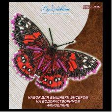 NBFL-036 Набор бабочка Адмирал красный на водорастворимом флизелине ТМ Вдохновение