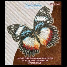 NBFL-044 Набор бабочка Гиполимнас декситея на водорастворимом флизелине ТМ Вдохновение