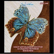 NBFL-048 Набор бабочка Salamis temora на водорастворимом флизелине ТМ Вдохновение