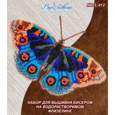 NBFL-012 Набор бабочка Анютины Глазки на водорастворимом флизелине ТМ Вдохновение
