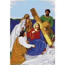 А4-И-541 Несение креста Иисусом.Схема для вышивки бисером ТМ Acorns