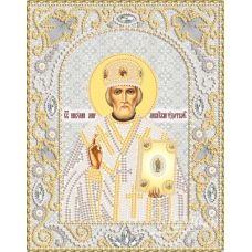 НИК-5328 Св.Николай Чудотворец (серебро). Набор для вышивки бисером ТМ Маричка