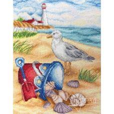 НКА-011 На пляже. Набор для вышивки нитками ТМ Маричка