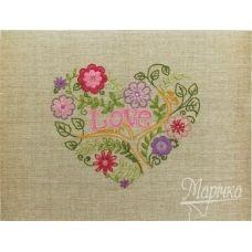НКШ-4001 Цветочное сердце. Наборы для вышивки нитками ТМ Маричка