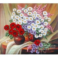 НЛ-3005 Полевые цветы. Наборы для вышивки нитками ТМ Маричка