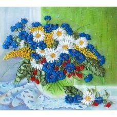 НЛ-3014 Полевые цветы на окне. Наборы для вышивки нитками ТМ Маричка