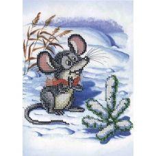 А5-Д-282 Новогодняя мышка. Схема для вышивки бисером ТМ Acorns