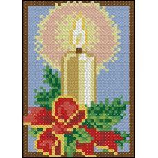 ФПК-6003 Новогодняя миниатюра-свеча. Схема для вышивки бисером Феникс