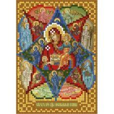 А6-И-142 Образ богородицы Неопалимая купина. Схема для вышивки бисером ТМ Acorns