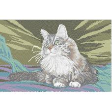 ЛВТ-016 Хозяйский кот. Схема для вышивки бисером. Княгиня Ольга