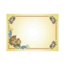 А3-С-005 Салфетка Пасхальная Пасхальная курочка Схема для вышивки бисером ТМ Acorns