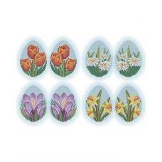А3-К-499 Пасхальные яйца Весенние цветы. Схема для вышивки бисером ТМ Acorns