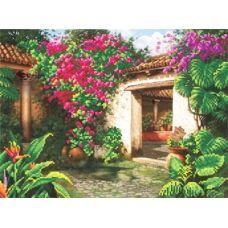 БИС-3412 Цветущий дворик. Схема для вышивки бисером Арт Лар