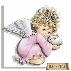 РТ130018 Ангел в розовом. Техника Папертоль. Тела Артис